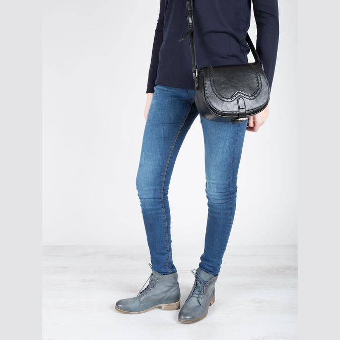 Kožená kotníčková obuv modrá bata, modrá, 2021-596-9646 - 18