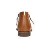 Kožené kotníčkové kozačky s perforací bata, 2021-596-4647 - 17