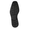 Pánské kožené polobotky s prošitím přes špici bata, černá, 824-6815 - 26