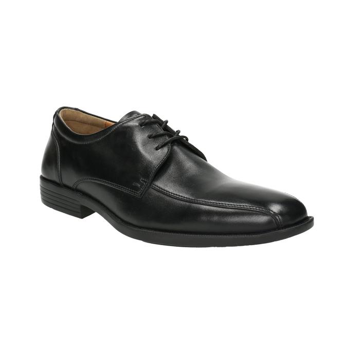 Pánské kožené polobotky s prošitím přes špici bata, černá, 824-6815 - 13