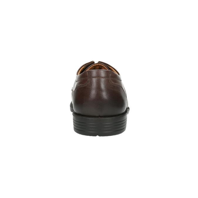 Pánské kožené polobotky s prošitím přes špici bata, hnědá, 824-4815 - 17