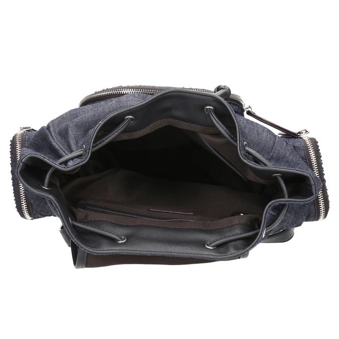 Dámský batoh s kovovými ozdobami bata, modrá, 969-9240 - 15