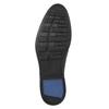 Pánské kožené polobotky černé bata, černá, 824-6800 - 26