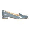 Kožená dámská obuv ve stylu Loafers bata, modrá, 518-9600 - 15