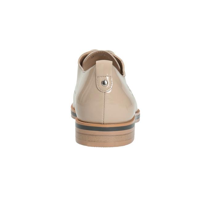 Krémové lakované polobotky bata, béžová, 2021-528-8634 - 17