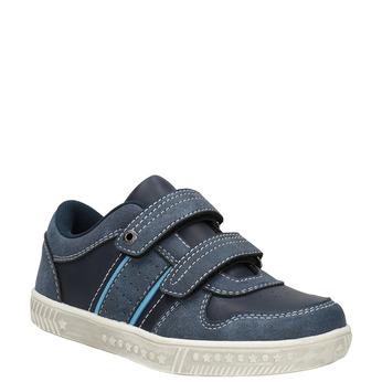 Dětské tenisky s prošitím mini-b, modrá, 411-9604 - 13