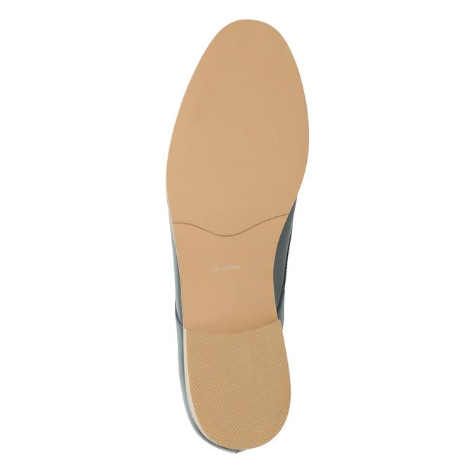 Dámské kožené polobotky bata, modrá, 2021-528-9634 - 26