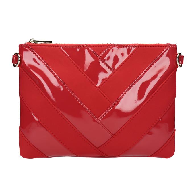 Dámská lakovaná Crossbody kabelka bata, červená, 961-5683 - 26