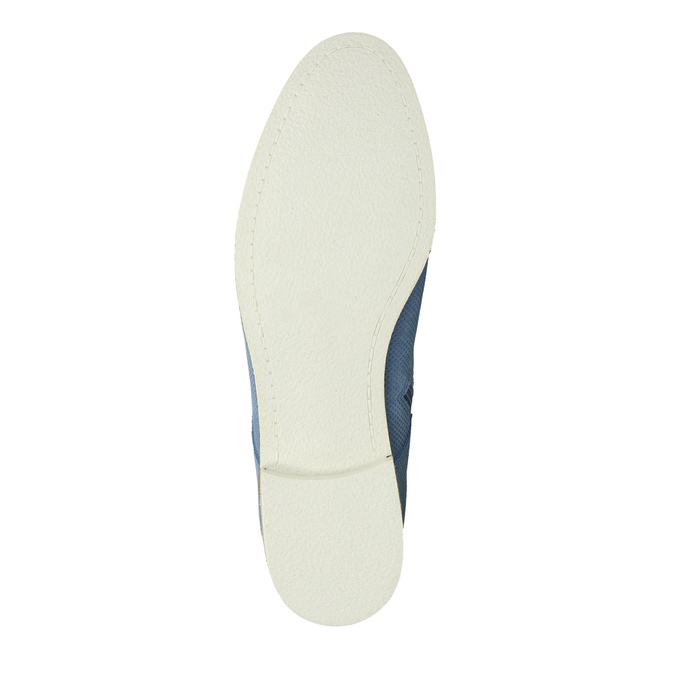 Kožená obuv nad kotníky bata, modrá, 593-9602 - 26