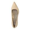 Kožené dámské lodičky pillow-padding, béžová, 626-8635 - 19