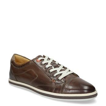 Kožené pánské tenisky bata, hnědá, 846-4617 - 13