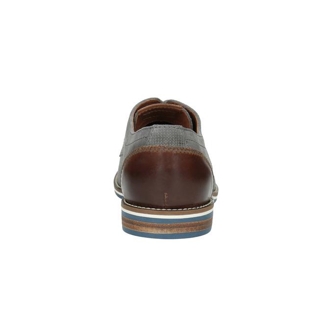 Ležérní kožené polobotky šedé bata, šedá, 823-2600 - 17