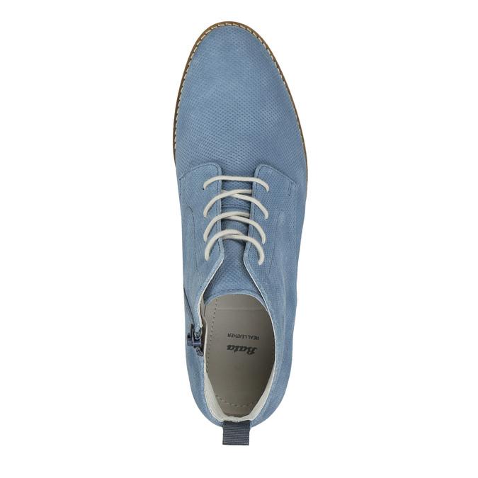 Kožená obuv nad kotníky bata, modrá, 593-9602 - 19