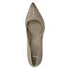 Dámské lodičky s perforací pillow-padding, béžová, 626-2636 - 19
