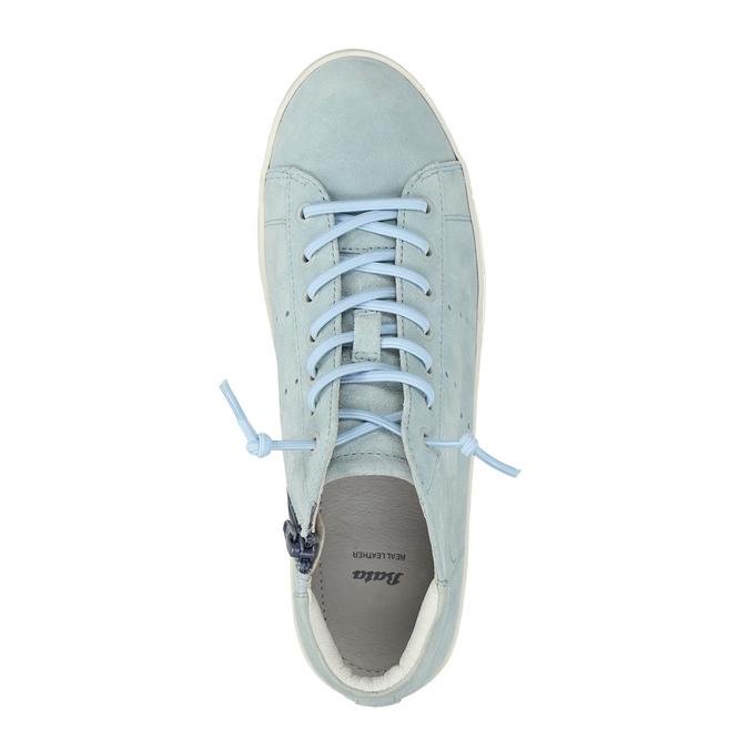 Dámské kožené tenisky ke kotníkům bata, modrá, 523-9602 - 19