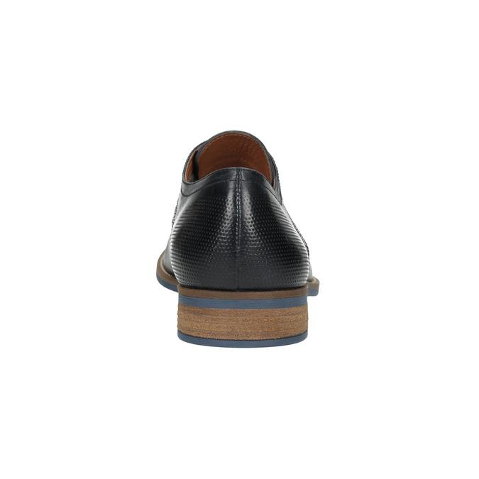 Kožené pánské polobotky černé bata, modrá, 826-6793 - 17