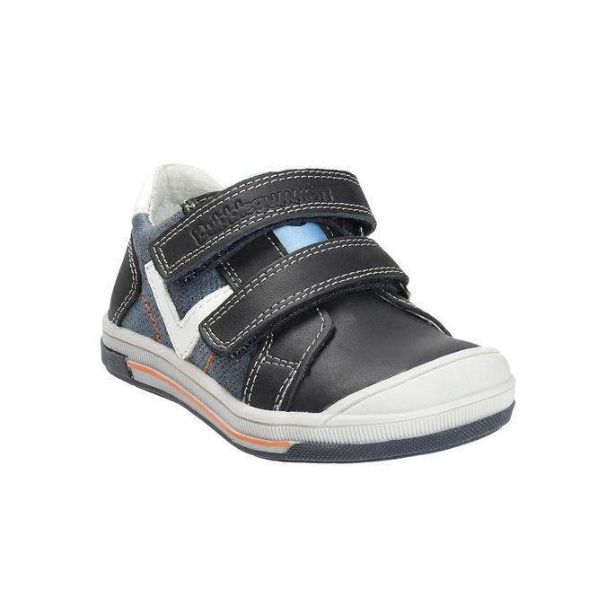 Dětské kožené boty na suché zipy bubblegummers, modrá, 116-9600 - 13