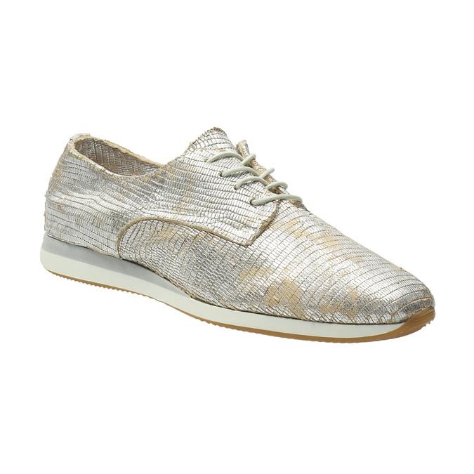 Zlaté kožené tenisky bata, stříbrná, 526-8633 - 13