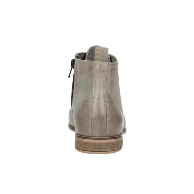 Kožená kotníčková obuv bata, hnědá, 596-2645 - 17