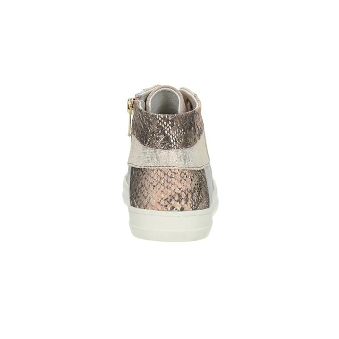 Dámské kožené tenisky bata, růžová, 526-5614 - 17