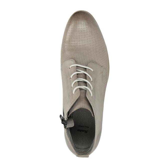 Kožená kotníčková obuv bata, hnědá, 596-2645 - 19