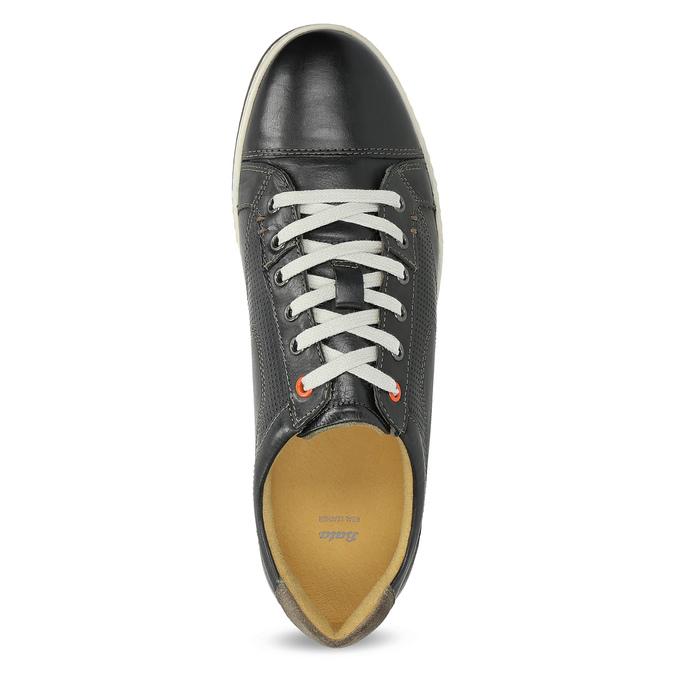 Pánské kožené tenisky bata, černá, 846-6617 - 17