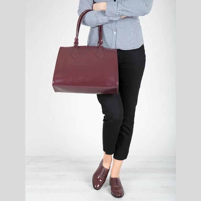 Vínové dámské polobotky bata, červená, 528-5633 - 18