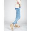 Kožené Chelsea boty s perforací bata, béžová, 596-3651 - 18