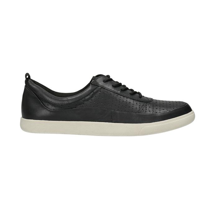 Kožené dámské tenisky bata, černá, 526-6618 - 15