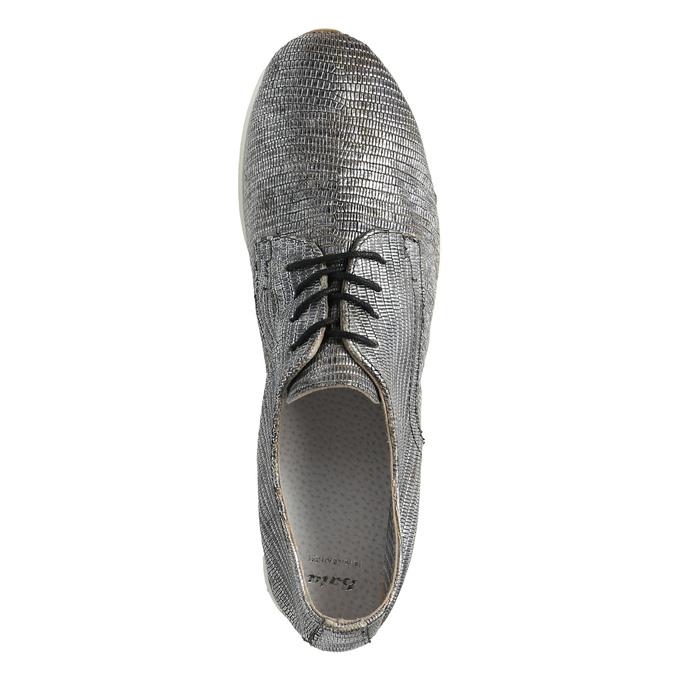 Stříbrné kožené tenisky bata, stříbrná, 526-6633 - 19