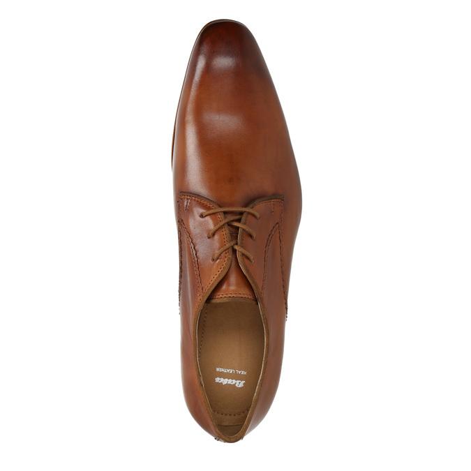Pánské kožené polobotky bata, hnědá, 826-3836 - 19