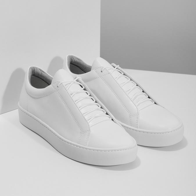 Bílé kožené tenisky dámské vagabond, bílá, 624-1019 - 26