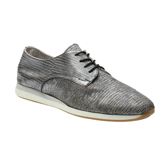 Stříbrné kožené tenisky bata, stříbrná, 526-6633 - 13