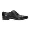 Černé kožené Oxford polobotky bata, černá, 824-6824 - 15