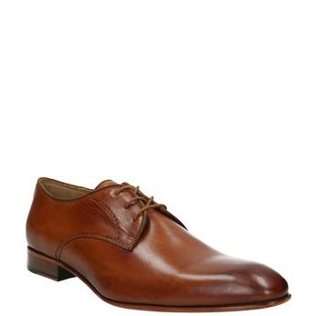 Pánské kožené polobotky bata, hnědá, 826-3836 - 13