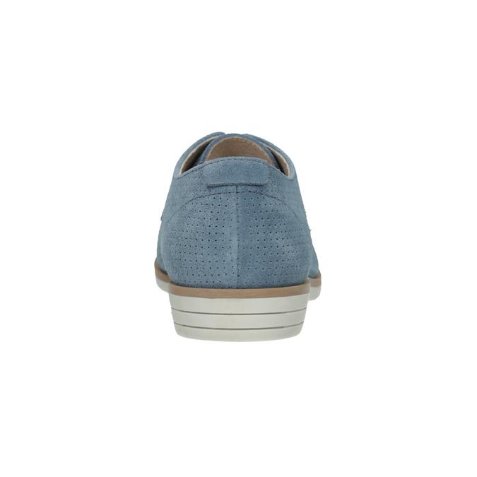 Modré kožené polobotky bata, modrá, 523-9600 - 17