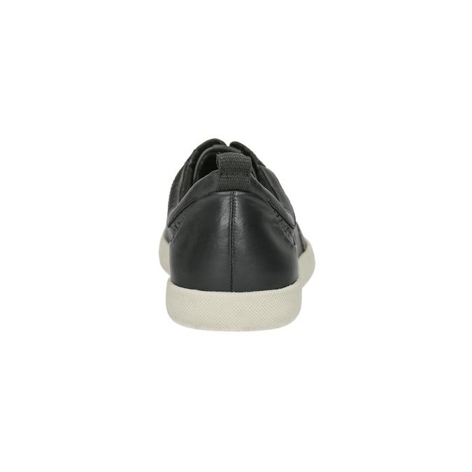 Kožené dámské tenisky bata, černá, 526-6618 - 17