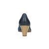 Dámské kožené lodičky bata, modrá, 626-9639 - 17