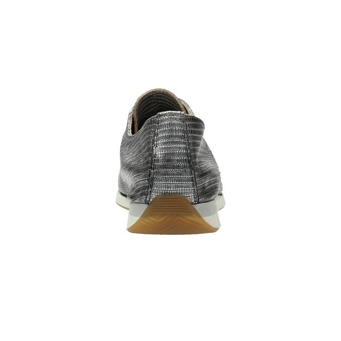 Stříbrné kožené tenisky bata, stříbrná, 526-6633 - 17