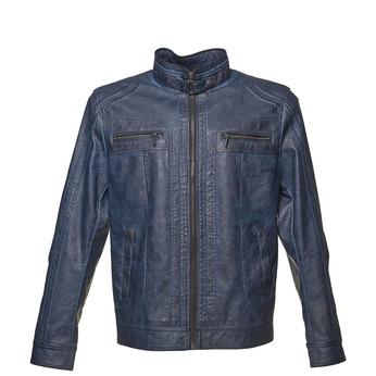 Koženková pánská bunda bata, modrá, 971-9194 - 13