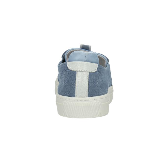 Dámská obuv ve stylu Slip-on bata, modrá, 516-9600 - 17