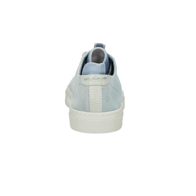 Kožené dámské tenisky bata, modrá, 523-9601 - 17