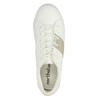 Bílé dámské tenisky se zlatým pruhem north-star, bílá, 521-1605 - 19