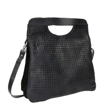 Černá kožená kabelka do ruky a-s-98, černá, 966-6043 - 13