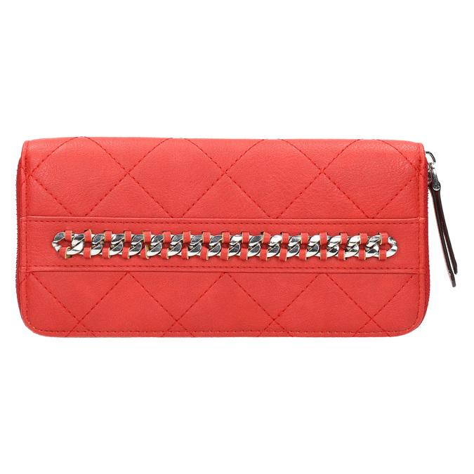Červená peněženka s řetízkem bata, červená, 941-5146 - 26