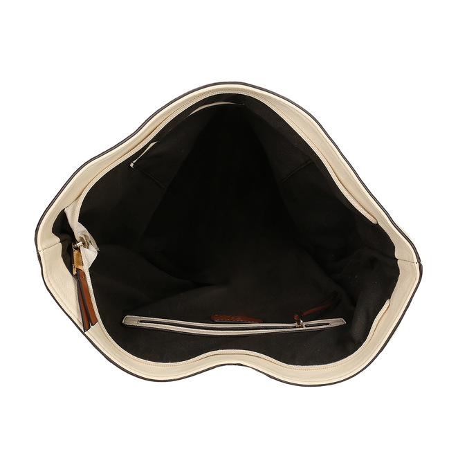 kabelka v Hobo stylu bata, béžová, 961-8705 - 15