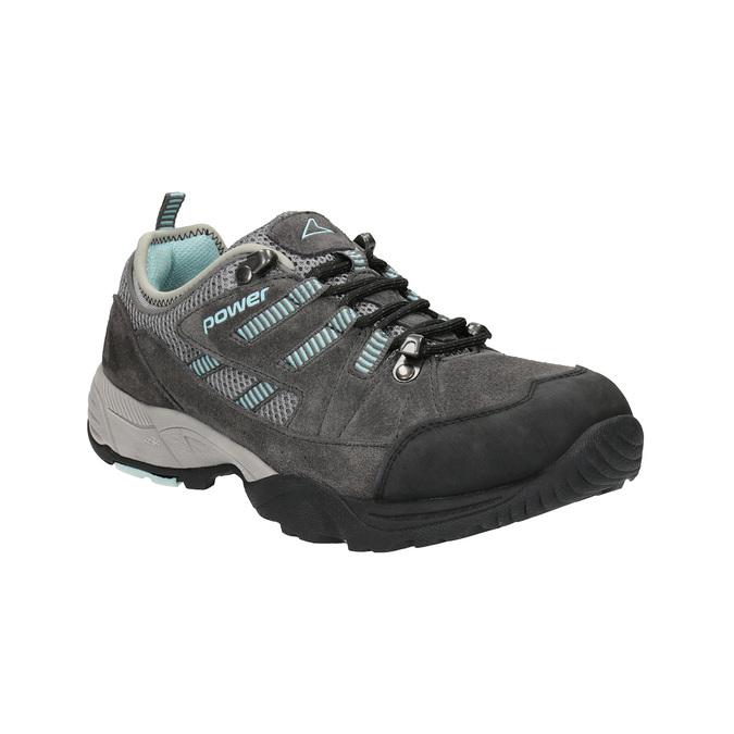 Dámské kožené Outdoor boty power, šedá, 503-2118 - 13