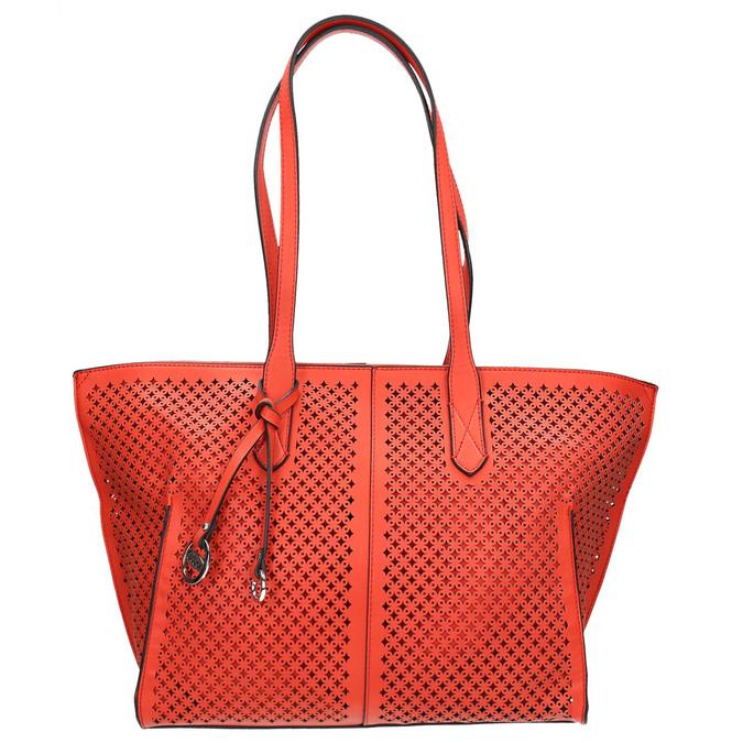 Červená kabelka s perforací gabor-bags, červená, 961-5080 - 26