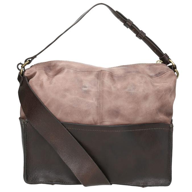 Kožená kabelka s masivním popruhem a-s-98, hnědá, 966-4037 - 19