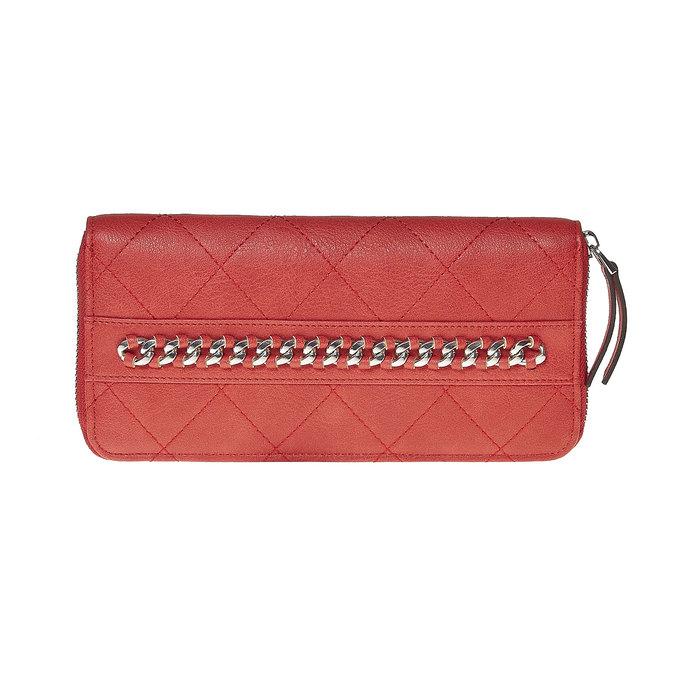 Červená peněženka s řetízkem bata, červená, 941-5146 - 17